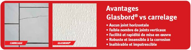 avantages glasbord vs carrelage