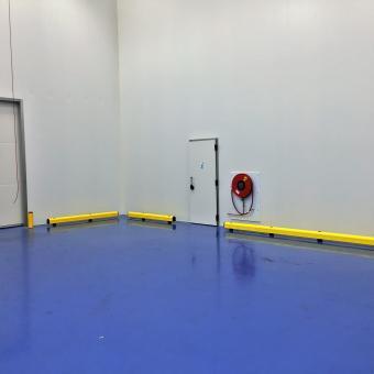 Rail de protection salle blanche